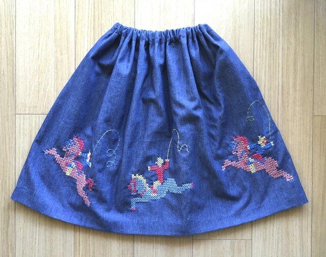 【再販】デニムのスカート ポニー  の画像1枚目