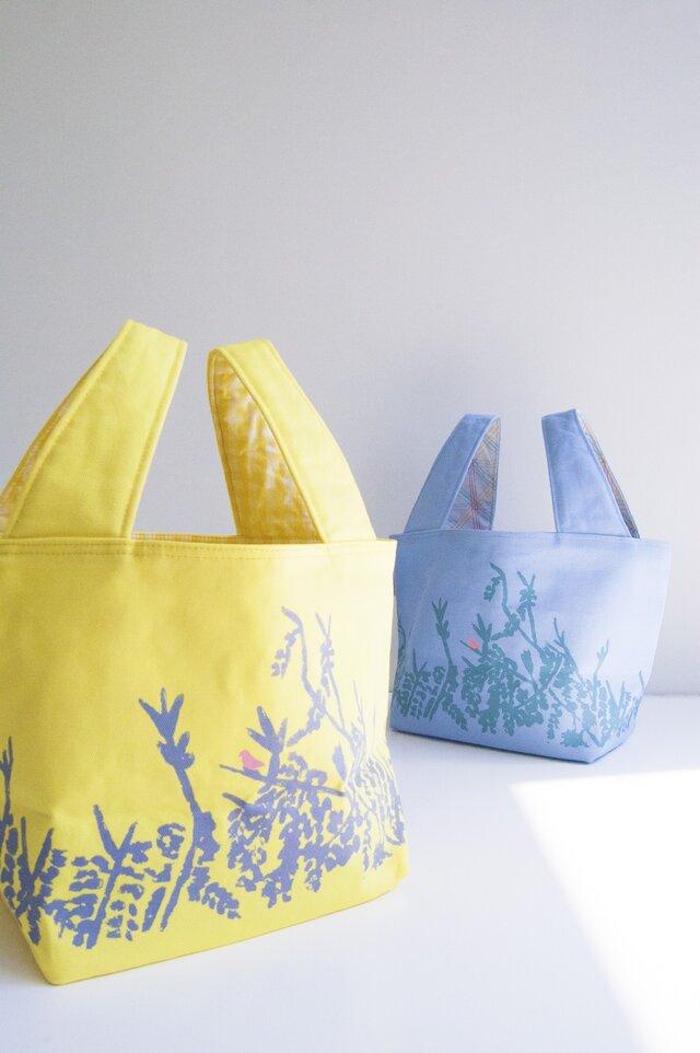 森のバッグ(blue/lining yellow)の画像1枚目