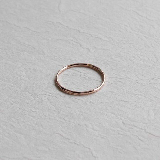 桃色十金極細丸棒槌目指輪 rr-53の画像1枚目