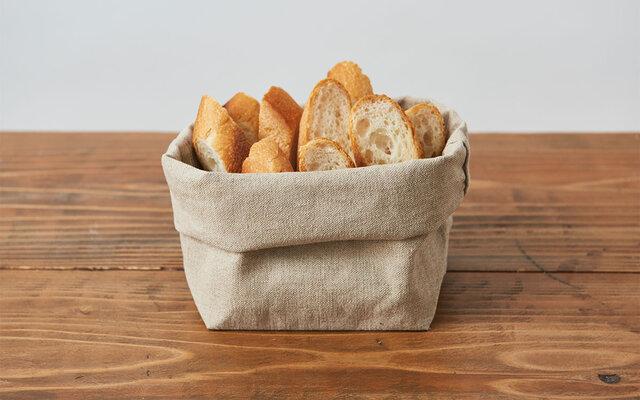 【再入荷】ブレッドバスケット(リネン帆布のパン袋)Lサイズの画像1枚目