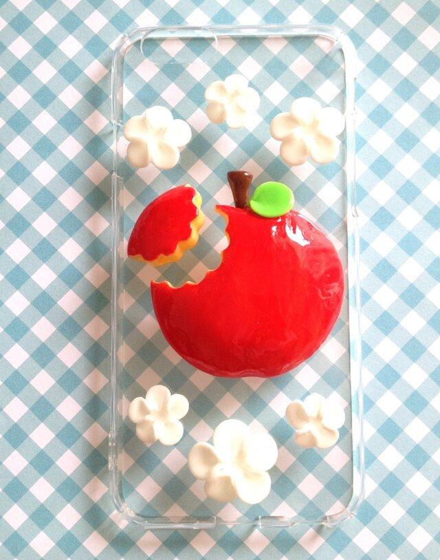 蜜りんごスマホケースかじりかけ付きの画像1枚目