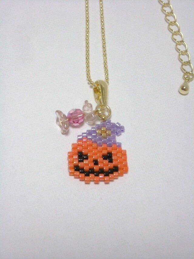 ハロウィンネックレス(Gold)☆かぼちゃ☆の画像1枚目