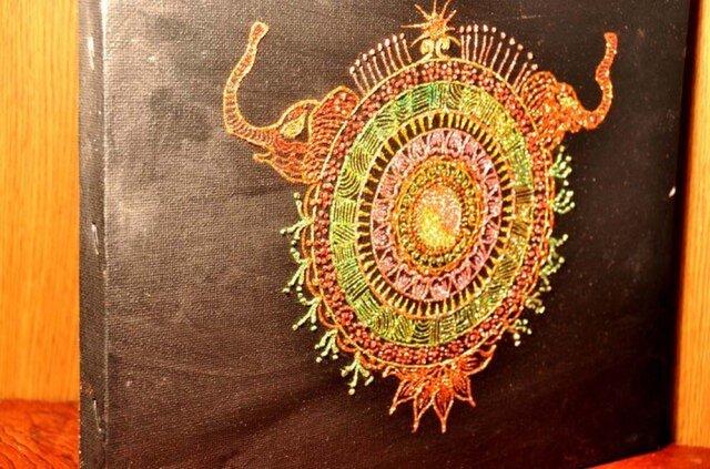 光の立体曼陀羅 陰と陽の象の画像1枚目