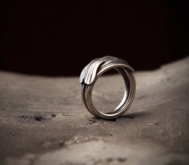 【素】ハグシルバー指輪の画像1枚目