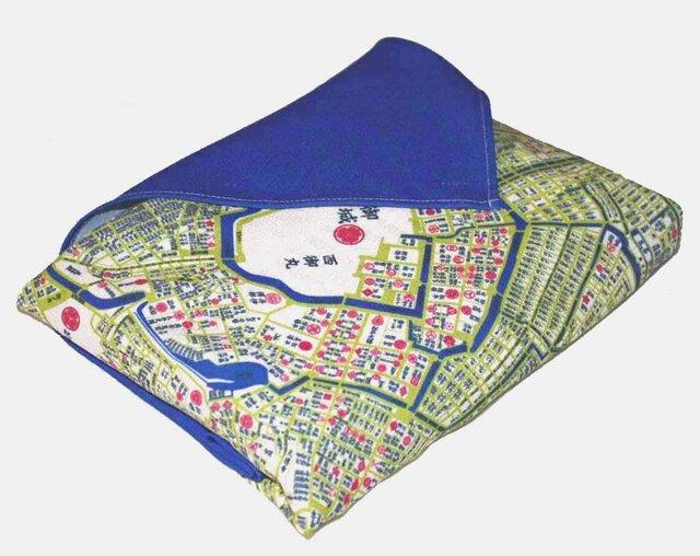 古地図が好き♪ 江戸古地図インテリア風呂敷の画像1枚目