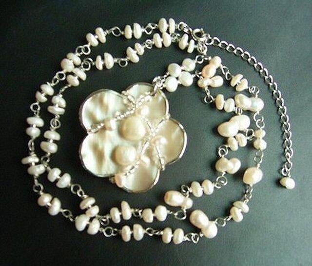 ◆◇◆淡水パールのペンダントネックレスの画像1枚目