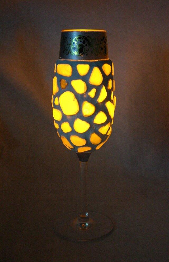 シーグラスのランプシェードの画像1枚目