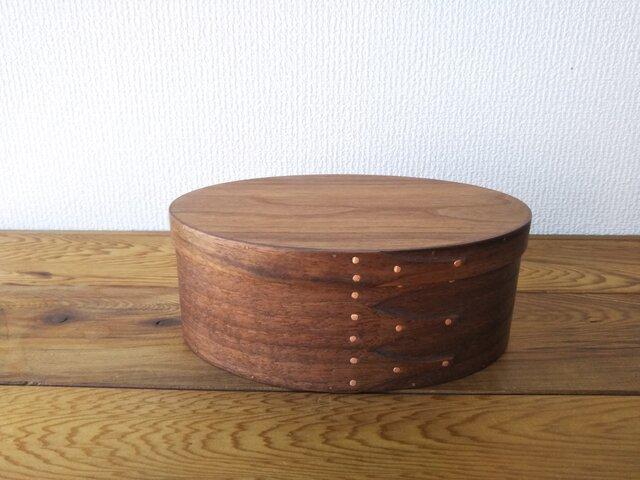 Shaker Oval Box #5 - ブラックウォルナットの画像1枚目