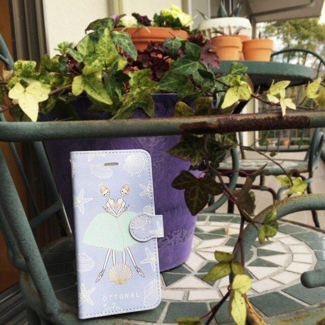 海と真珠 手帳型スマホケース (iPhone用)の画像1枚目