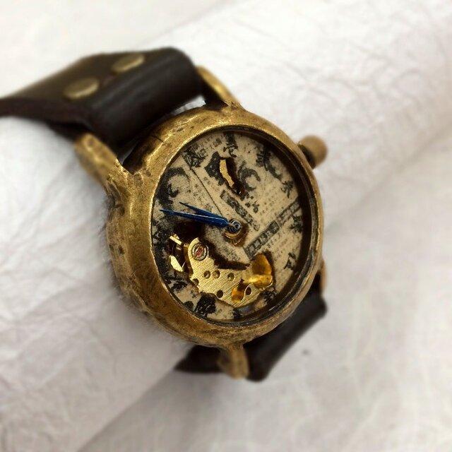 映画のワンシーンのような腕時計  銀幕(ぎんまく) P-016の画像1枚目