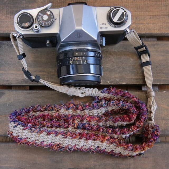 fuchidori麻紐ヘンプカメラストラップ(2重リング)の画像1枚目