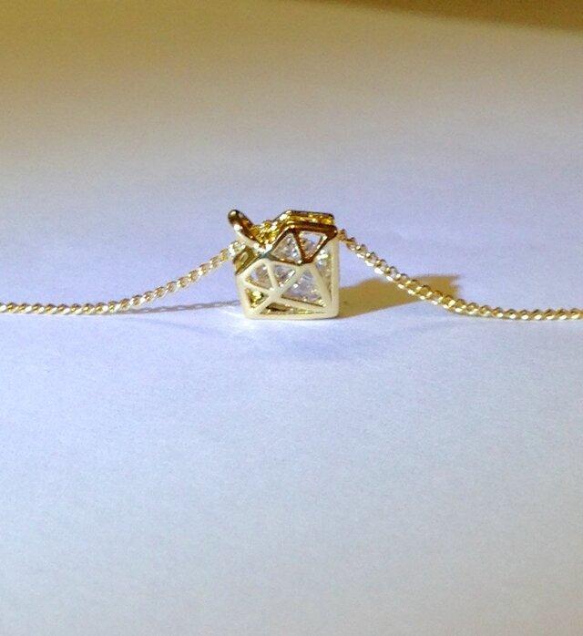 G-ゴールドダイヤネックレスの画像1枚目