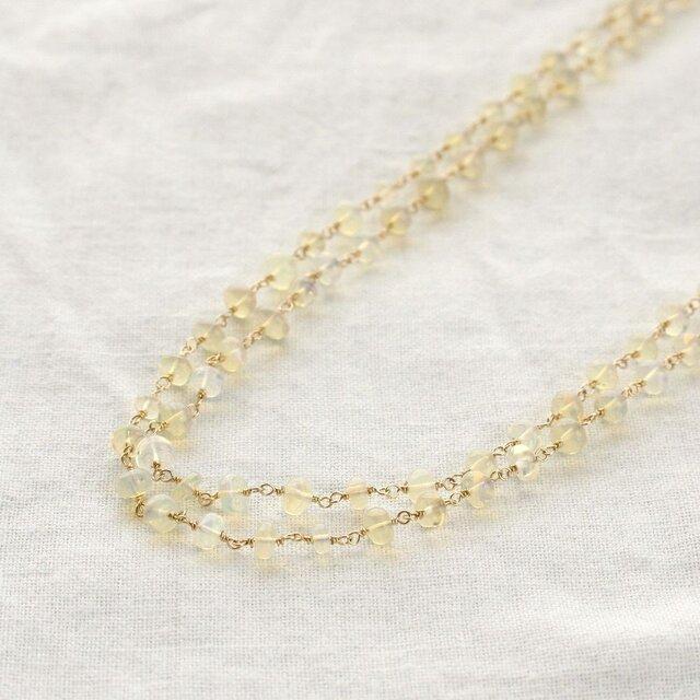 Ethiopian Opal Long Necklaceの画像1枚目
