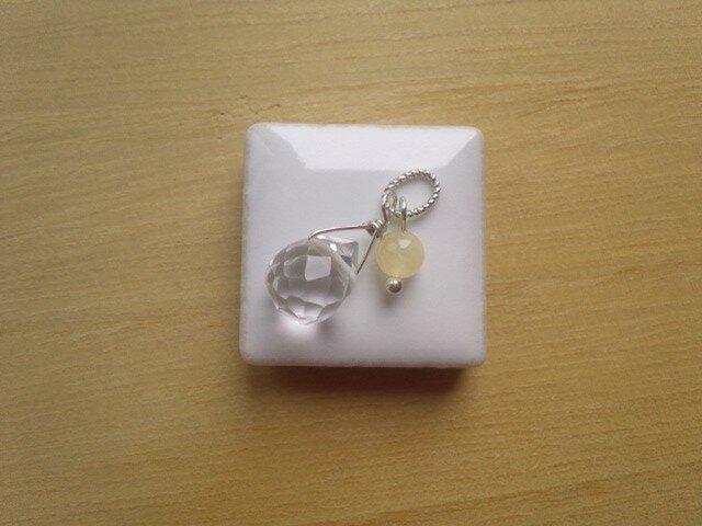 水晶とアラゴナイトのペンダントトップの画像1枚目