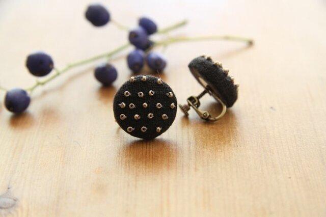 【再入荷】Boutons recouverts en lin(Noir2)の画像1枚目