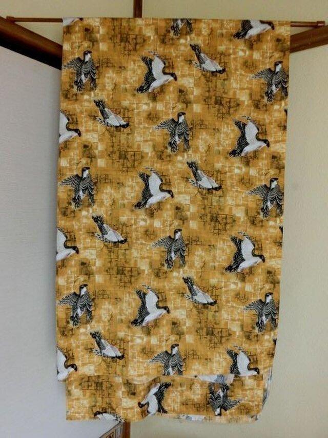 暖簾 のれん 受注製作 黄土色系 鳥の画像1枚目