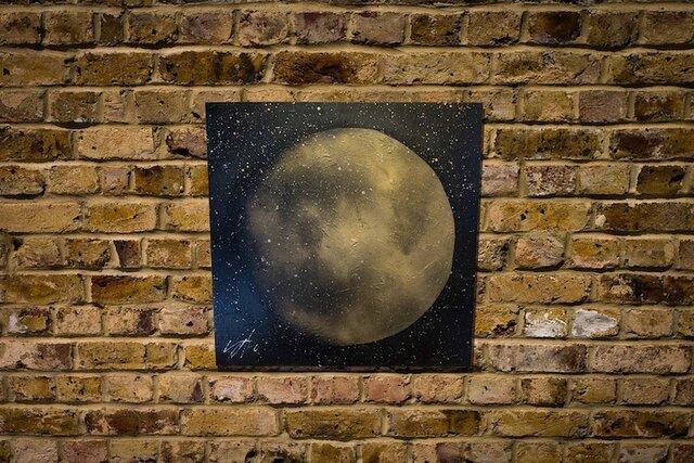 満月のスプレーアート作品。の画像1枚目