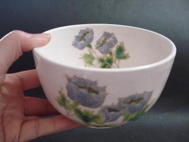 花の器 抹茶碗 アネモネの画像1枚目