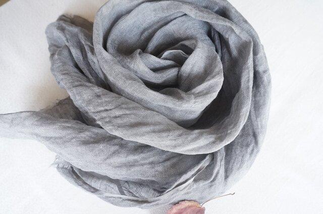 花の木染めリネンストール(F)の画像1枚目