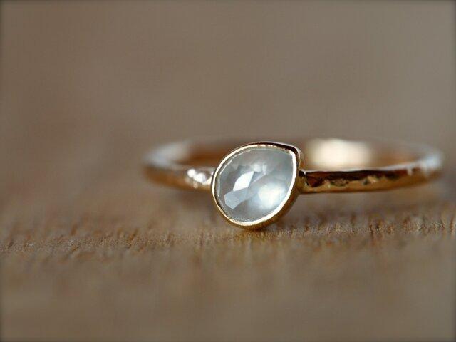 Sugar White Drop Diamond Ringの画像1枚目