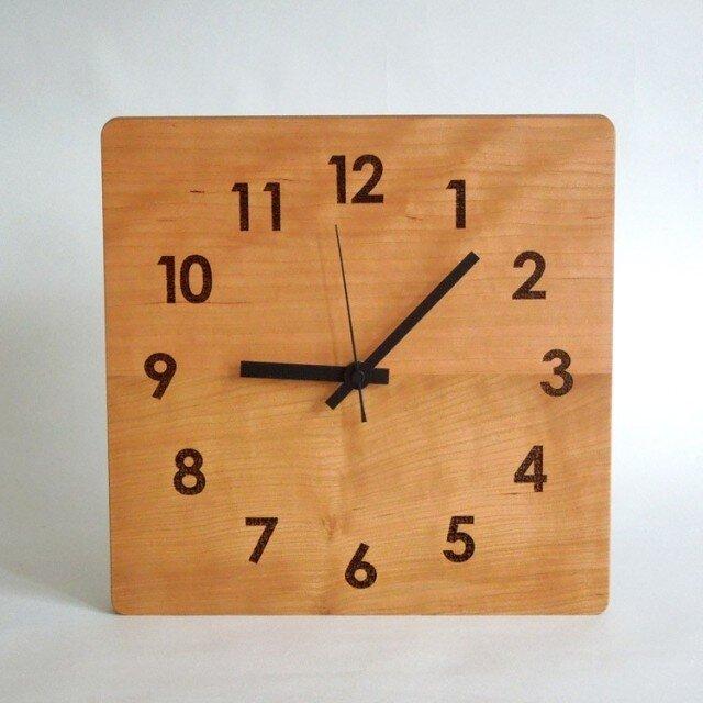 clock54 | world largeBK(チェリー)の画像1枚目