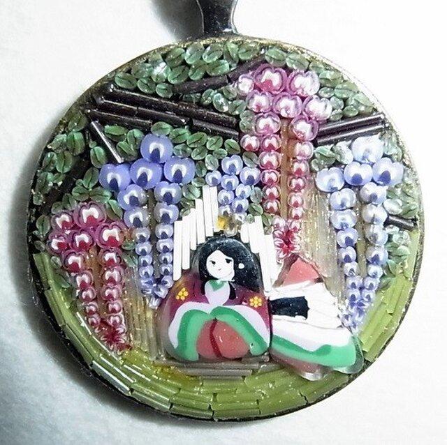 ミクロモザイク♥十二単衣と藤の花の画像1枚目