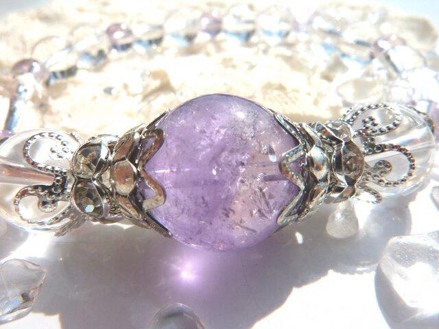 瑞々しい紫☆ライトアメトリンのブレスの画像1枚目