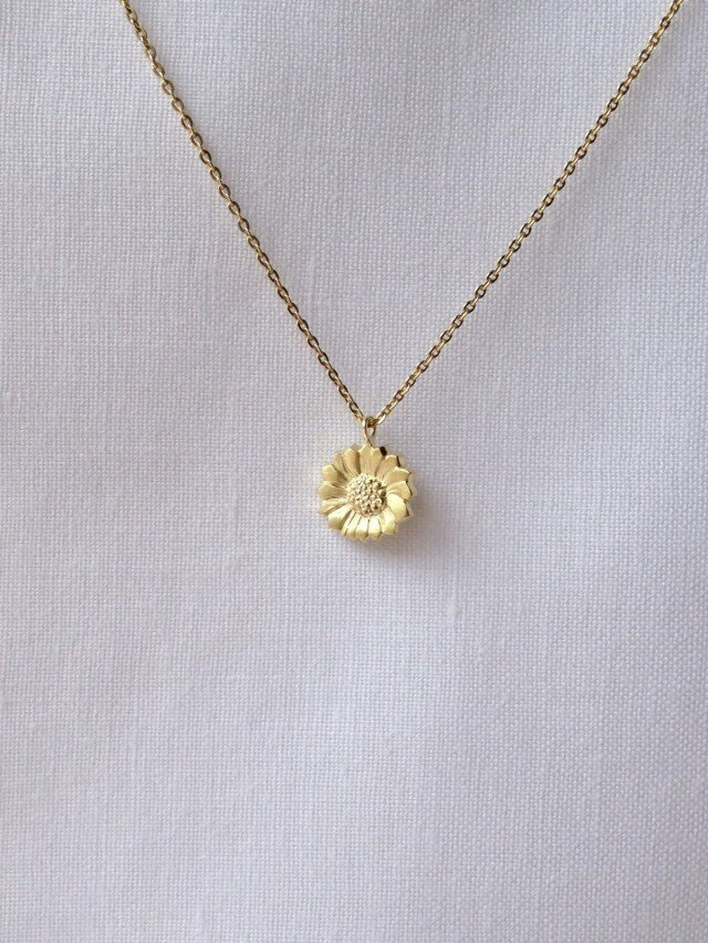 F様専用 K18Pendant Floral チェーンK18ピンクゴールドの画像1枚目