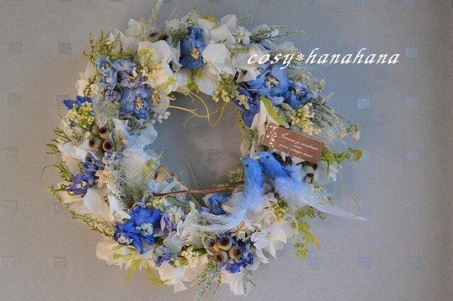 青い鳥happy*wreathの画像1枚目