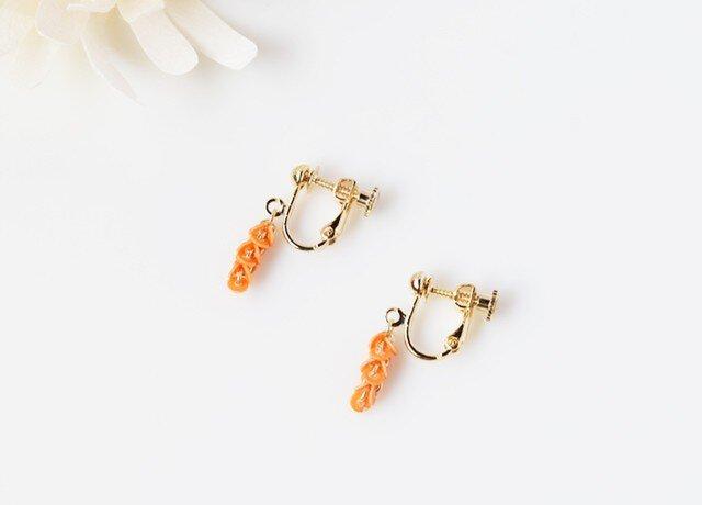 【和紙のイヤリング】pumpkin line miniの画像1枚目