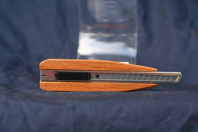 木製グリップカッターナイフ 桜(さくら) 船底デザインの画像1枚目