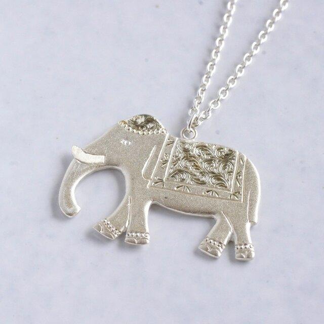 Elephant pendant{P019SV}の画像1枚目
