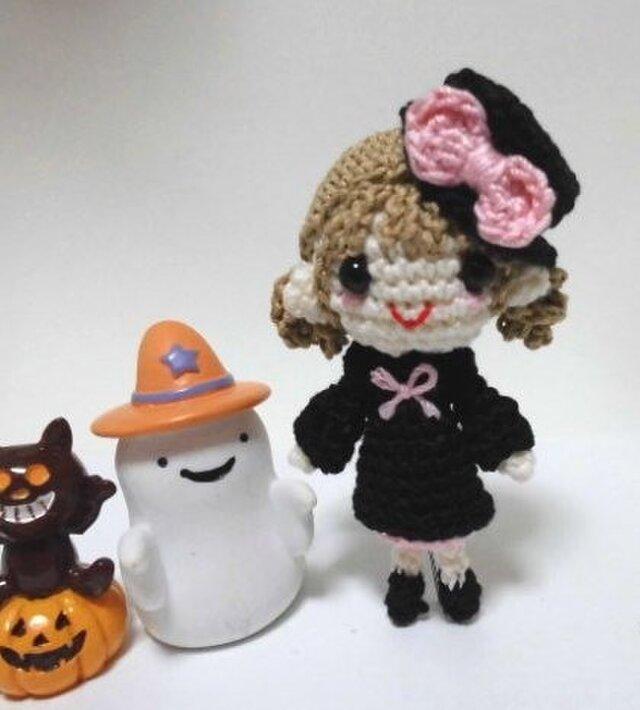 ハロウィンの編みぐるみちゃん♪の画像1枚目