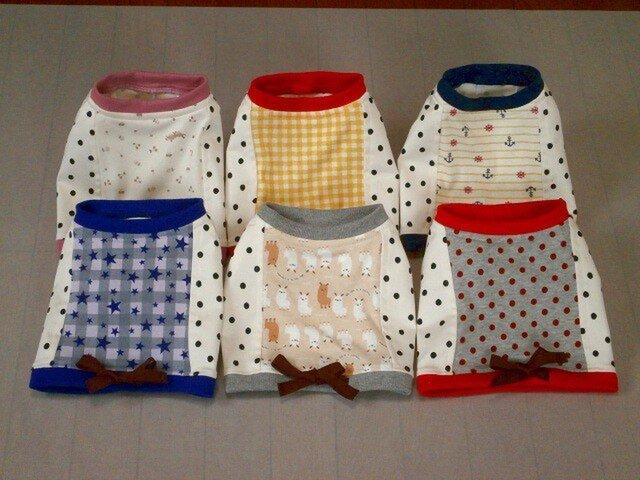 犬服 F様オーダーメイド:ケアウェアTシャツ6枚セットの画像1枚目