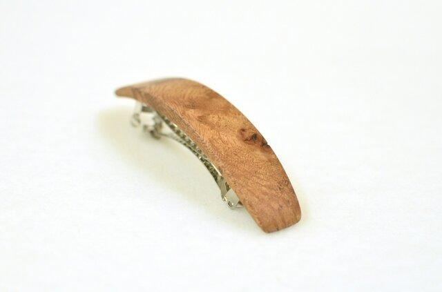 ナラの木のシンプルなバレッタ  001の画像1枚目
