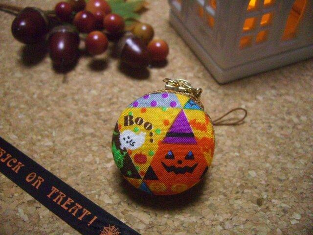 ハロウィン・マカロン 鋭角かぼちゃ(オレンジ)の画像1枚目