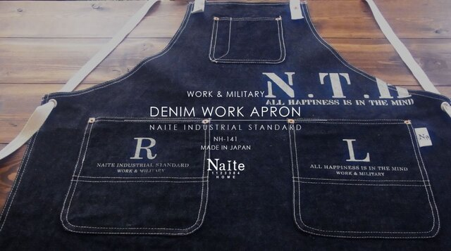 Denim work apron / メンズエプロンの画像1枚目