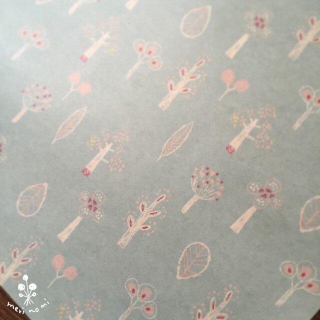A4サイズのうす紙【木と葉】の画像1枚目