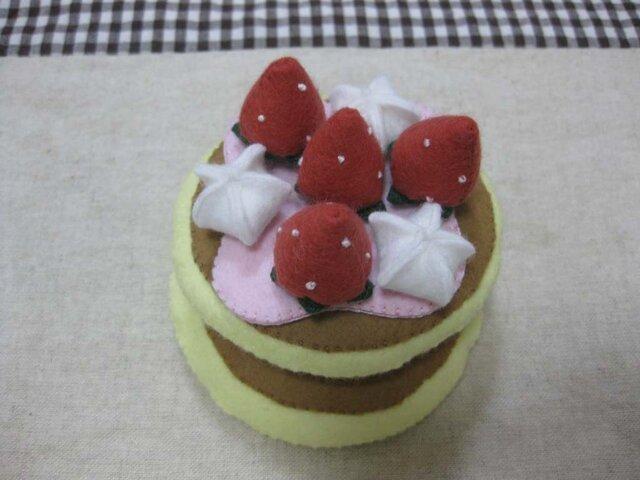 ストロベリーパンケーキの画像1枚目