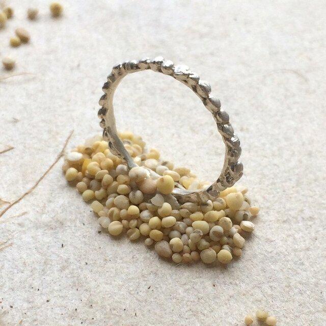 *穀物シリーズ*粟(あわ)ピンキーリング*シルバー925の画像1枚目