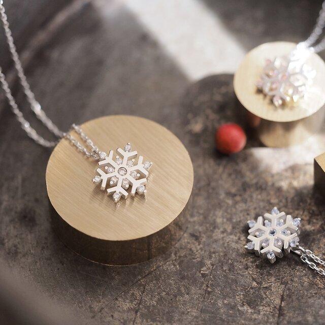 雪の結晶 ネックレス シルバー925の画像1枚目