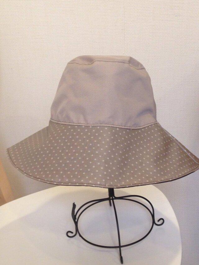 雨帽子 レインハット リバーシブルの画像1枚目
