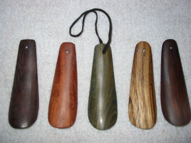 リグナムバイタの樹の靴べら 写真中央の画像1枚目