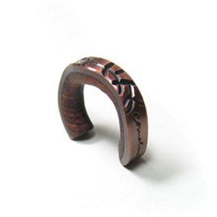 cometman 銅とブビンガ材のリング4の画像1枚目