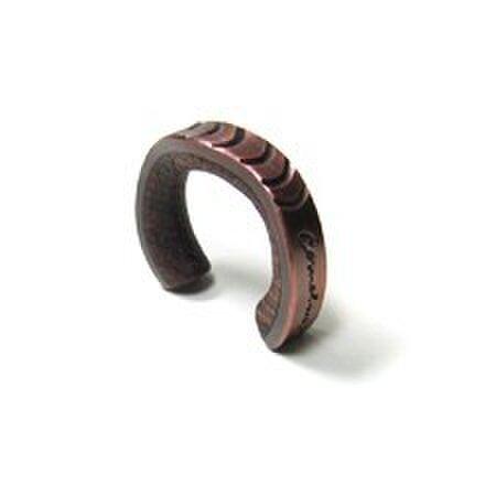 cometman 銅とブビンガ材のリング5の画像1枚目