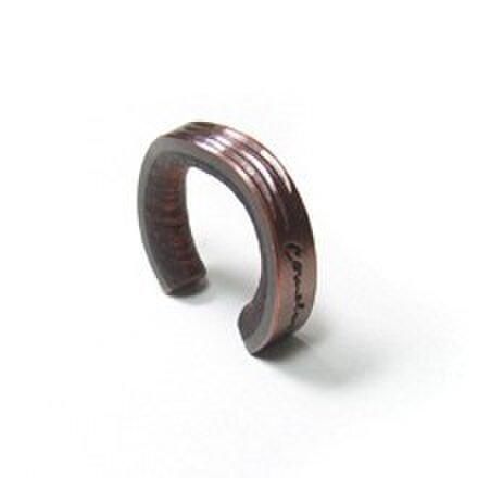 cometman 銅とブビンガ材のリング6の画像1枚目