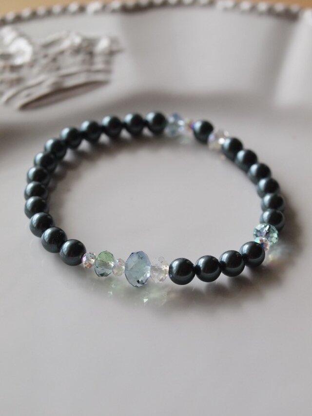 Swarovski の真珠ブレスレット *南洋黒真珠*の画像1枚目