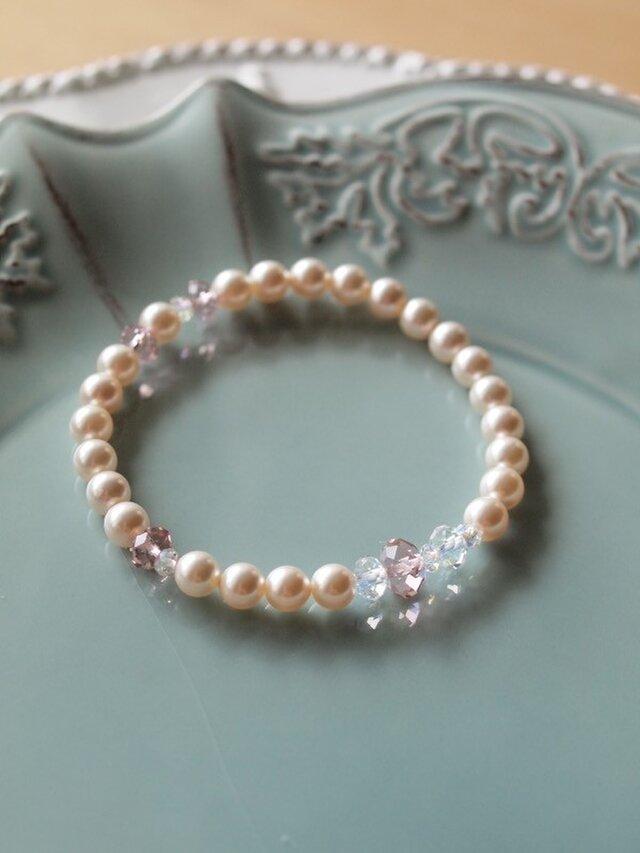 Swarovski の真珠ブレスレット *ホワイト*の画像1枚目