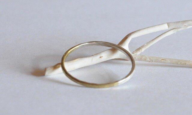 2トーンリング brass&silverの画像1枚目