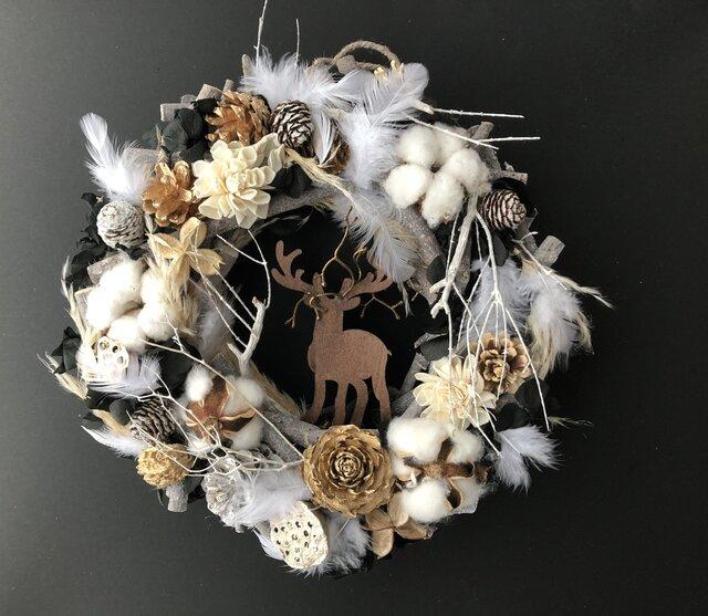 Branch winter wreathの画像1枚目